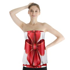 Decorative Red Bow Transparent Clip Art Strapless Top