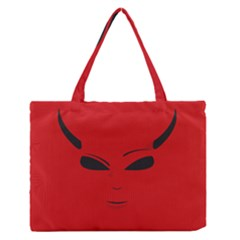 Devil Medium Zipper Tote Bag