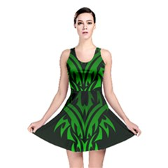 Dragon Head Reversible Skater Dress