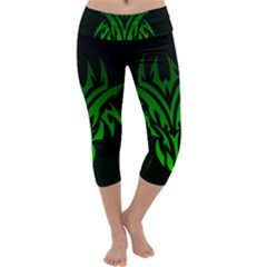 Dragon Head Capri Yoga Leggings