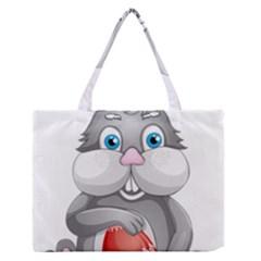 Easter Rabit Medium Zipper Tote Bag