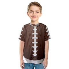 Football Ball Kids  Sport Mesh Tee