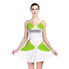 Green Swimsuit Reversible Skater Dress