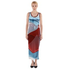 Heart In Ice Cube Fitted Maxi Dress