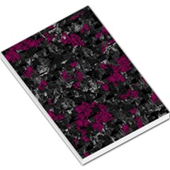 Magenta and gray decorative art Large Memo Pads