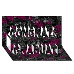 Magenta and gray decorative art Congrats Graduate 3D Greeting Card (8x4)