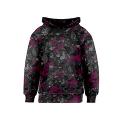 Magenta and gray decorative art Kids  Pullover Hoodie