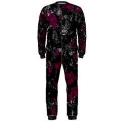Magenta and gray decorative art OnePiece Jumpsuit (Men)