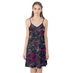 Magenta And Gray Decorative Art Camis Nightgown