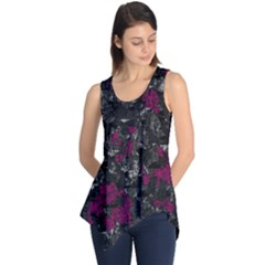 Magenta and gray decorative art Sleeveless Tunic