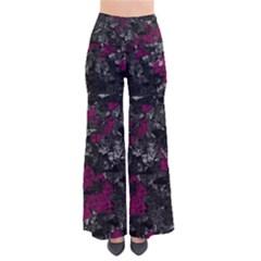 Magenta and gray decorative art Pants