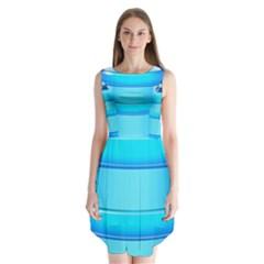 Large Water Bottle Sleeveless Chiffon Dress