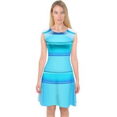 Large Water Bottle Capsleeve Midi Dress