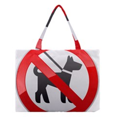 No Dogs Sign Prohibition Clipart Medium Tote Bag