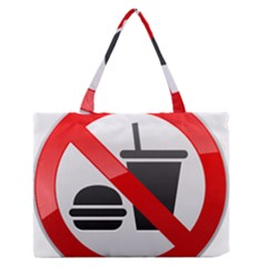 No Eating Or Drinking Prohibition Sign Clipart Medium Zipper Tote Bag