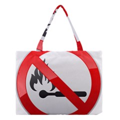 No Naked Flames Prohibition Sign Clipart Medium Tote Bag