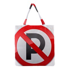 No Parking Prohibition Sign Clipart Grocery Tote Bag