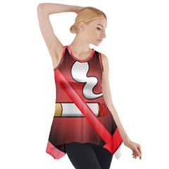 No Smoking Prohibition Sign Clipart Side Drop Tank Tunic