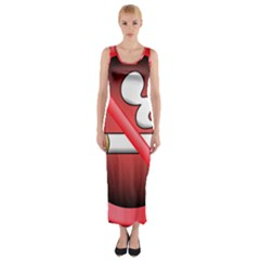 No Smoking Prohibition Sign Clipart Fitted Maxi Dress