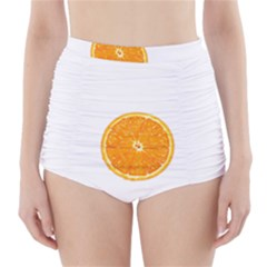 Orange Slice High-Waisted Bikini Bottoms