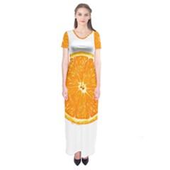 Orange Slice Short Sleeve Maxi Dress