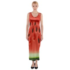 Piece Of Watermelon Fitted Maxi Dress