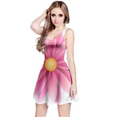Pink Flower Clip Art Reversible Sleeveless Dress