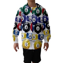 Racked Billiard Pool Balls Hooded Wind Breaker (Kids)