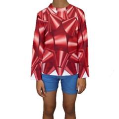 Red Bow Kids  Long Sleeve Swimwear