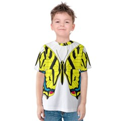 Simple Butterfly Vector Kids  Cotton Tee