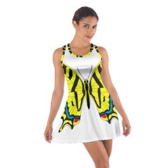 Simple Butterfly Vector Cotton Racerback Dress