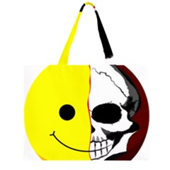 Skull Behind Your Smile Large Tote Bag
