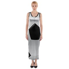 Soccer Ball Fitted Maxi Dress