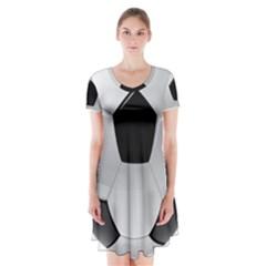 Soccer Ball Short Sleeve V-neck Flare Dress