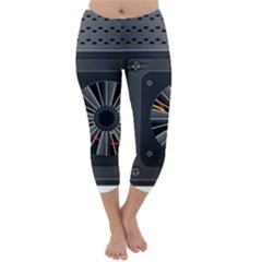 Special Black Power Supply Computer Capri Winter Leggings