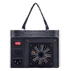 Special Black Power Supply Computer Medium Tote Bag