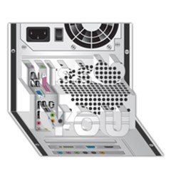 Standard Computer Case Back Miss You 3D Greeting Card (7x5)