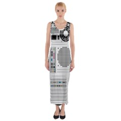 Standard Computer Case Back Fitted Maxi Dress