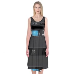 Standard Computer Case Front Midi Sleeveless Dress