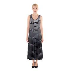 Tire Sleeveless Maxi Dress
