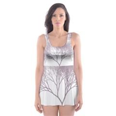 Tree Skater Dress Swimsuit