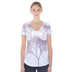 Tree Short Sleeve Front Detail Top