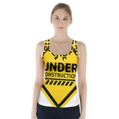 Under Construction Warning Sign Clipart Racer Back Sports Top