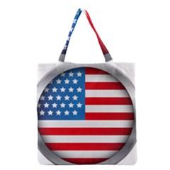 Usa Flag Grocery Tote Bag