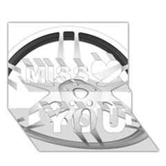 Wheel Skin Cover Miss You 3D Greeting Card (7x5)