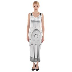 Wheel Skin Cover Fitted Maxi Dress
