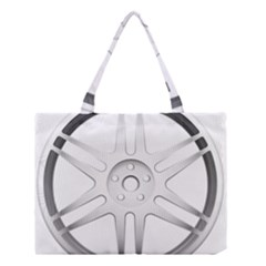 Wheel Skin Cover Medium Tote Bag