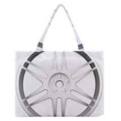 Wheel Skin Cover Medium Zipper Tote Bag