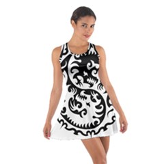 Ying Yang Tattoo Cotton Racerback Dress