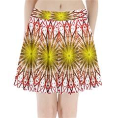 A Fractal Flower Pleated Mini Skirt